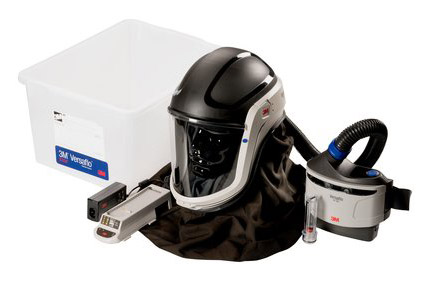 Respirator Kit - Helmet/Neck PAPR 3M Versaflo M-406 c/w TR-300 Turbo/Hose/Battery/Charger/P3 Filter