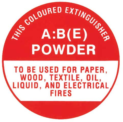 Sign - Fire Extinguisher ID Polystyrene 180mm x 190mm - CO2