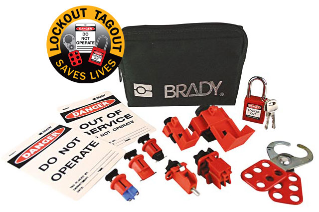Lockout Pouch - Electricians Brady 873848 Mini Lockout Pouch c/w Compact Padlock
