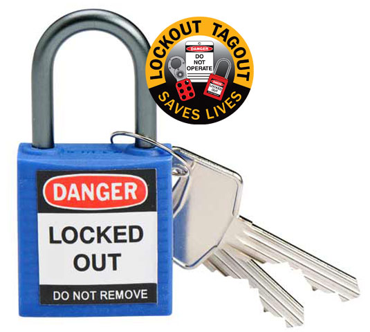 Lockout - Padlock Compact Nylon with Aluminium Shackle - Blue