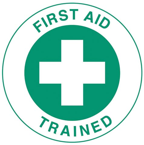 Decal - Vinyl SS Helmet Emblem 51mm - 'First Aid Trained'