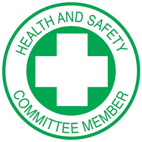 Decal - Vinyl SS Helmet Emblem 51mm - 'Health & Safety Committee Member'