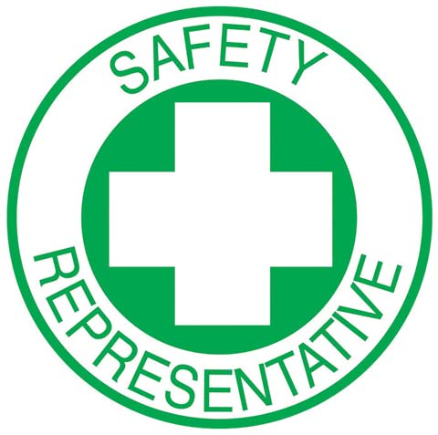 Decal - Vinyl SS Helmet Emblem 51mm - 'Safety Representative'
