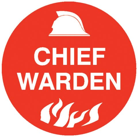 Decal - Vinyl SS Helmet Emblem 56mm - 'Chief Warden'