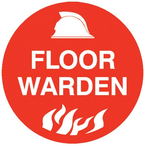 Decal - Vinyl SS Helmet Emblem 56mm - 'Floor Warden'