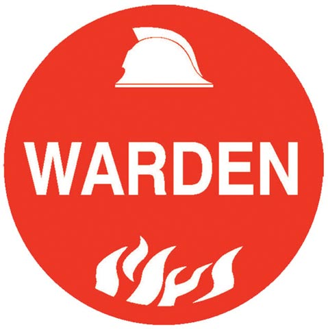 Decal - Vinyl SS Helmet Emblem 56mm - 'Warden'
