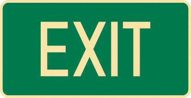 Sign - Poly Emergency 'Exit' 350mm x 180mm