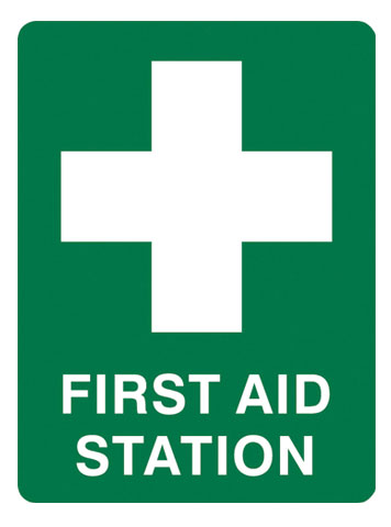 Sign - Poly 'First Aid Station' 450 x 600