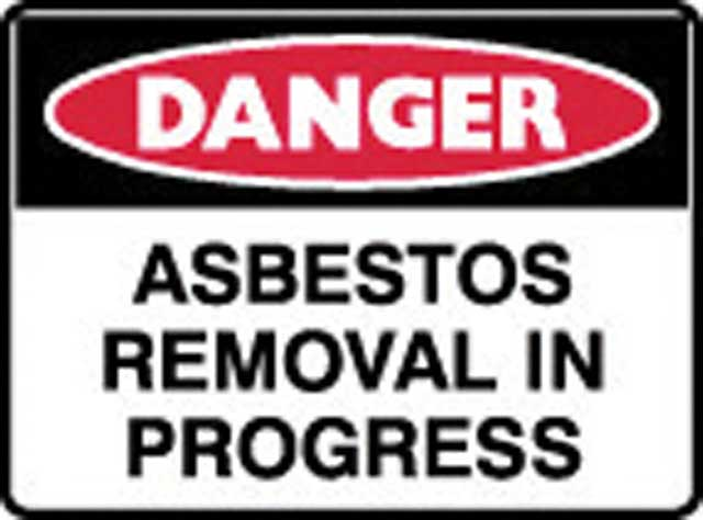 Sign - Poly Danger 'Asbestos Removal In Progress' 600 x 450