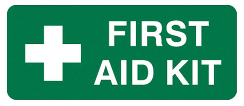 Sign - Poly 'First Aid Kit' 300mm x 125mm
