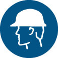 Sign - Vinyl SS 'Safety Cap' Pictogram 200mm Disc