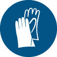 Sign - Vinyl SS 'Glove' Pictogram 200mm Disc
