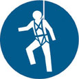 Sign - Vinyl SS 'Harness' Pictogram 200mm Disc