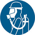 Sign - Vinyl SS 'Breathing Apparatus' Pictogram 200mm Disc