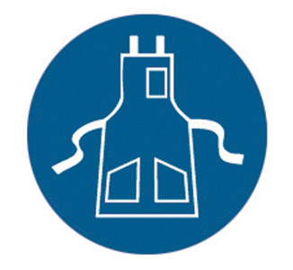 Sign - Vinyl SS 'Apron' Pictogram Disc 200mm