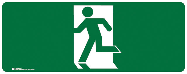 Sign - Vinyl SS Luminous Man Running 'Left' 180mm x 450mm