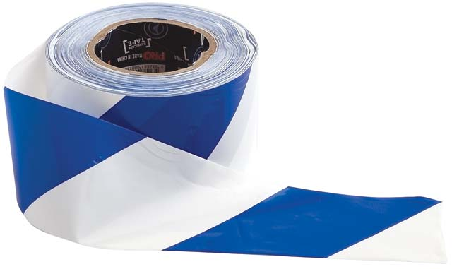 Tape - Barrier Hazard ProChoice 75mm x 100M 50 Micron Blue/White Diagonal