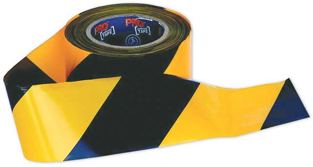 Tape - Barrier Hazard ProChoice 75mm x 100m  50 Micron Yellow/Black Diagonal