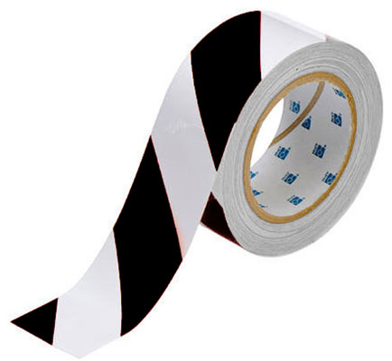 Tape - Polyester Indoor Floor Marking Toughstripe 51mm x 30M - Black/White