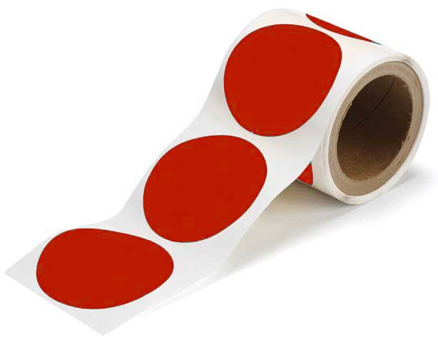Tape Dots - Polyester Indoor Floor Marking Toughstripe 89mm - Red