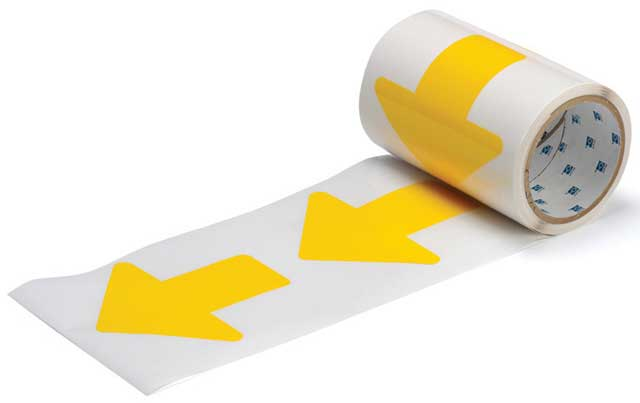 Tape Arrows - Polyester Indoor Floor Marking ToughStripe 76mm x 203mm - Yellow