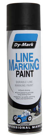 Paint - Line Marking Dy-Mark 500gm Aerosol - Black