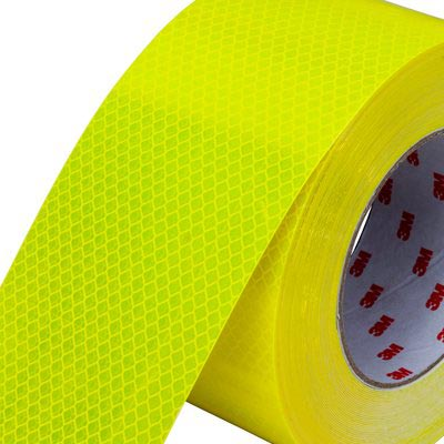 Tape - Vehicle 3M Diamond Grade 983 Edge Sealed Retail Pack 50mm x 3M - Fluoro Yellow/Green