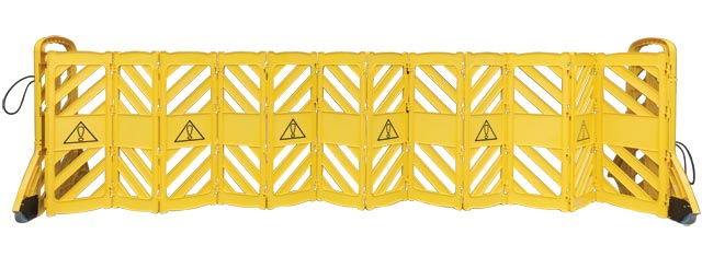 Barrier - Portable Expanding Mobile Barrier 1.0M (H) x 4.0M (W) 16kgs c/w Castor Wheels