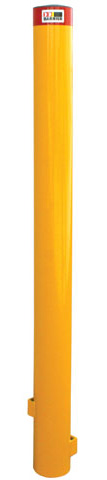 Bollard - Barrier Below Ground Heavy Duty 140mm (D) X 1.2M (H) x 5mm (W) - Galv Powder Coat Yellow