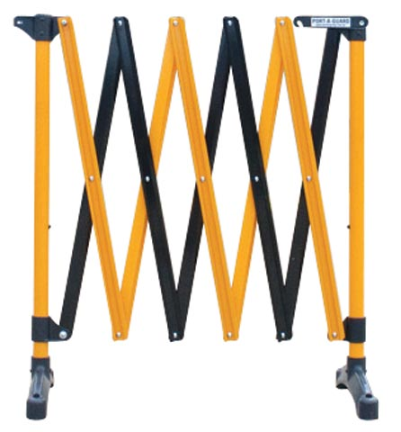 Barrier - Port-a-Guard Expanding Freestanding Control Barrier 3.0M - Black/Yellow