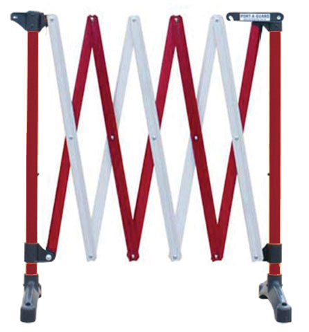 Barrier - Port-a-Guard Expanding Freestanding Control Barrier 3.0M - Red/White