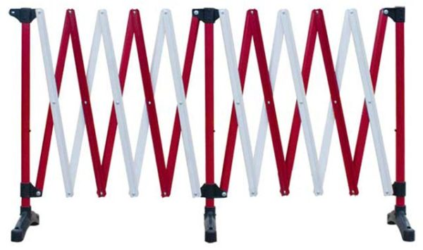 Barrier - Port-a-Guard Expanding Freestanding Control Barrier 6.0M - Red/White