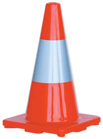 Cone - Traffic HI VIS ProChoice 450mm - Orange c/w Reflective Collar