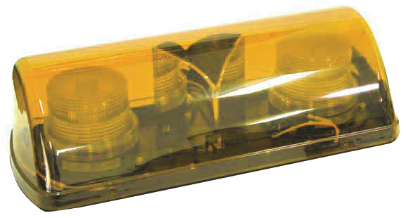 Beacon - LED Mini Bar ACOT500 Magnetic Base & Cord 12-24VDC - Amber