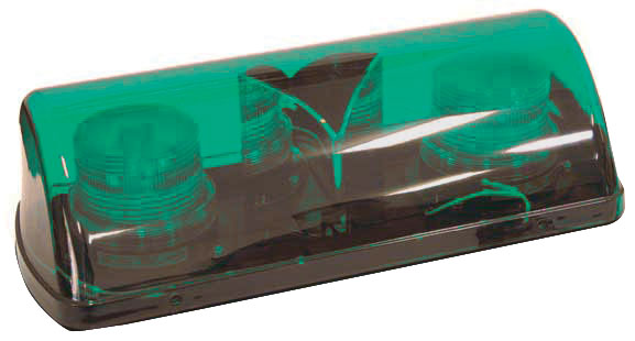 Beacon - LED Mini Bar ACOT500 Magnetic Base & Cord 12-24VDC - Green