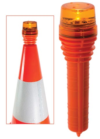 Light - LED Traffic Cone Vision Safe Day/Night Version 1W - Red