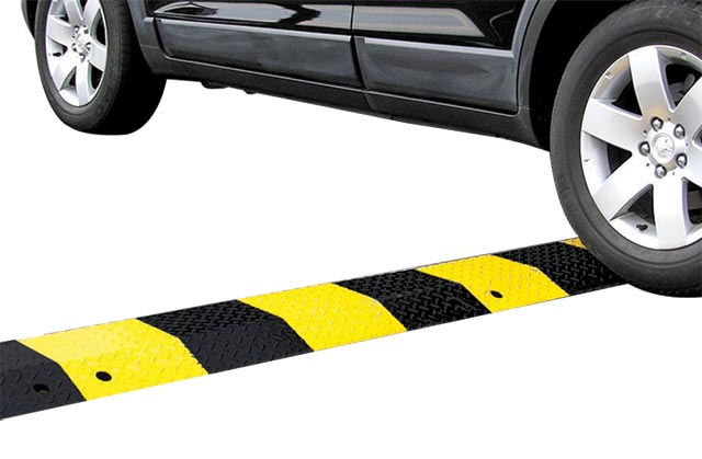 Speed Hump - Steel Body Slo-Motion Standard 3mm Plate 1.0M - Black/Yellow