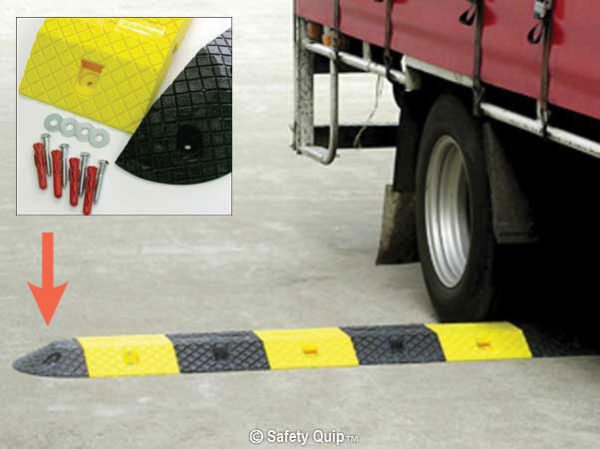 Speed Hump - Poly End Modules (pair) Slo-Motion Compliance 180mm - Black