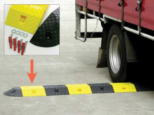 Speed Hump - Poly Body Section Slo-Motion Compliance 250mm - Yellow