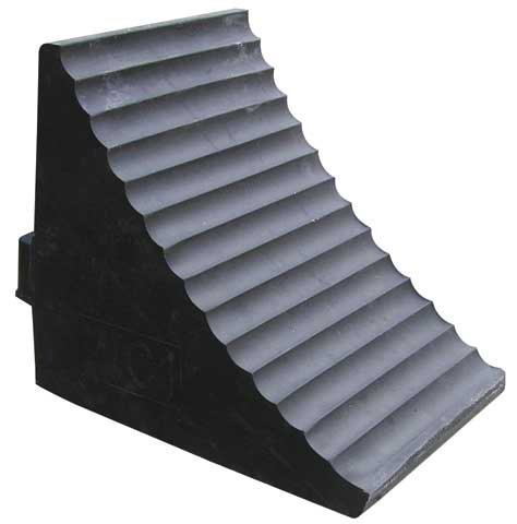 Wheel Chock - Rubber Single Side 255mm x 210mm x 180mm