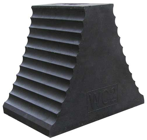 Wheel Chock - Rubber Double Side 250mm x 220mm x 180mm
