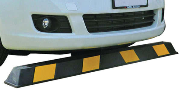 Wheel Stop - Rubber Vehicle Parking 1650mm (L) Black/Yellow
