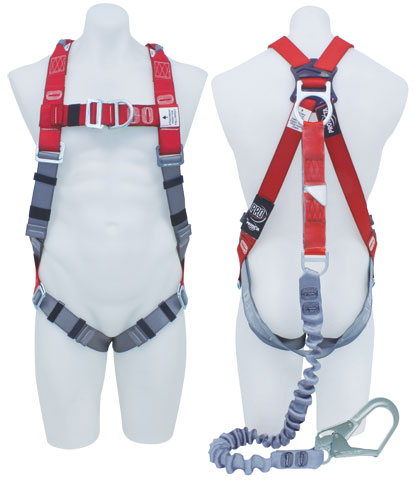 Harness - Riggers 3M Protecta P100 AB127-34L c/w Front/Rear D Rings & Retrieval Points/Chest Strap/Sub Pelvic Strap incl. Integral Elasticated Lanyard c/w Scaff Hook - L