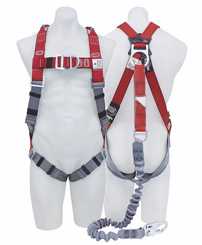 Harness - Riggers 3M Protecta P100 AB127-36L c/w Front/Rear D Rings & Retrieval Points Incl. Integral Elasticated Lanyard c/w Snap Hook - L