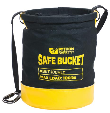 Safe Buckets - Python Safe Bucket 100Lb Load Rated Hook And Loop Canvas