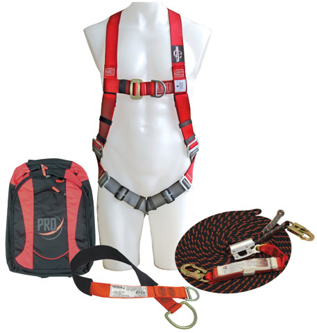 Kit - Roof Workers 3M Protecta AA400AU c/w Harness/Rope System/Lanyard/Anchor Strap/Storage Bag