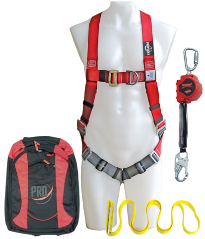 Kit - Construction Workers 3M Protecta AA410AU c/w Harness/UFA111AR Rebel SRL/Round Strap/Bag