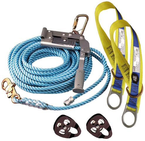 Lifeline - Temporary Horizontal System 3M DBI-Sala 2 Person c/w Rope/Tensioner/Tie Off Adaptors & Storage Bag - 20.0M