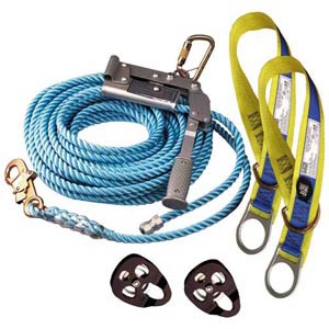 Lifeline - Temporary Horizontal System 3M DBI-Sala 2 Person c/w Rope/Tensioner/Tie Off Adaptors & Storage Bag - 25.0M