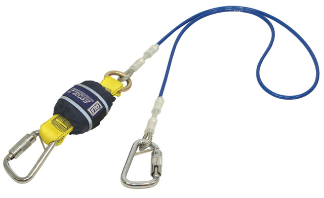 Lanyard - Single Tail 3M DBI-Sala Force2 Z10204545WR Shock Absorbing PVC Coated Wire Cable c/w R-119 Triple Action Karabiner Both Ends - 2.0M